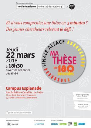 Finale Alsace de «Ma thèse en 180 secondes»
