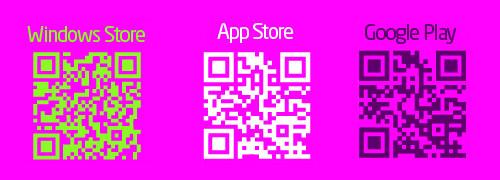 """QR-codes pour télécharger de l'application mobile """"Bas-Rhin à vélo"""""""
