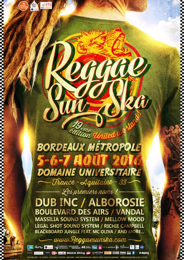 affiche reggae sun ska