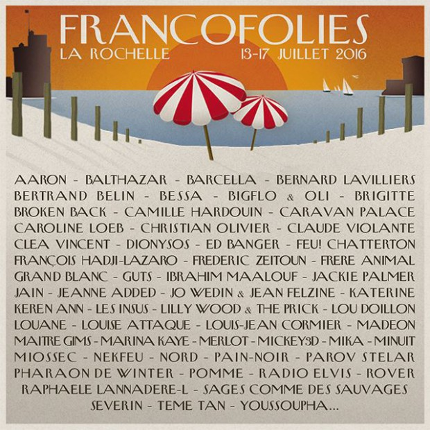 francofolies affiche 2016