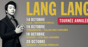 Le pianiste Lang Lang est contraint d'annuler sa tournée en octobre 2017