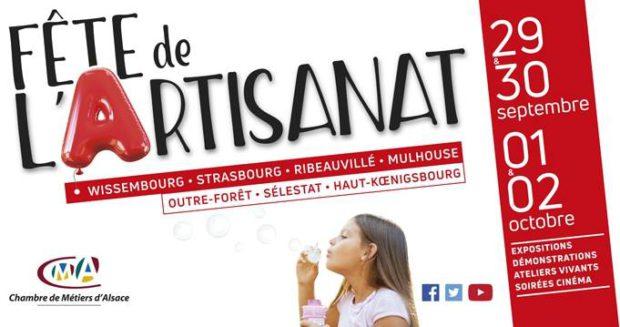 Venez nombreux rencontrer les différents artisans de la région du 29 septembre au 2 octobre à l'occasion de la Fête de l'Artisanat.