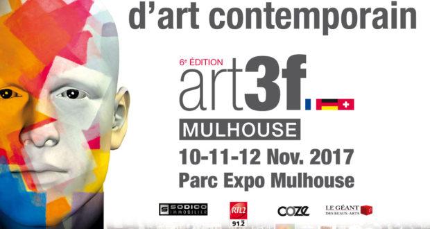 La 6ème édition d'ART3F, le salon international d'art contemporain, se tiendra du 10 au 12 novembre au Parc des Expositions de Mulhouse.