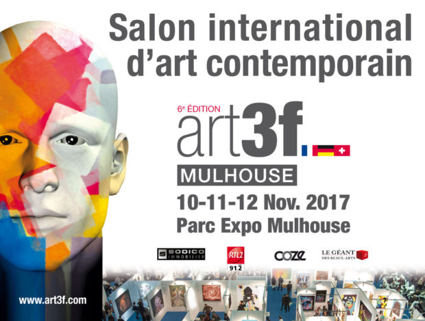 La 6ème édition d'ART3F, le salon international d'art contemporain, se tiendra du 10 au 12 novembre au Parc des Expositions de Mulhouse.