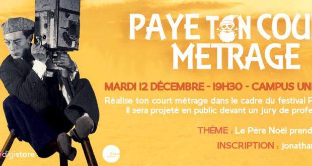 À l'occasion du festival Paye Ton Noël, qui se déroulera du 2 au 16 décembre 2017, l'association Pelpass a décidé d'organiser un concours de courts métrages, pour lequel elle recherche activement des candidats réalisateurs !