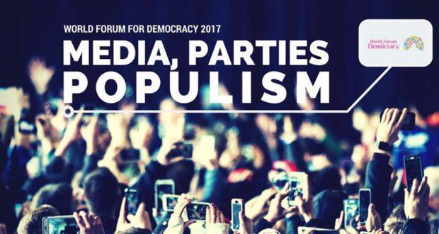 L'édition 2017 du Forum Mondial de la Démocratie 2017, qui se tiendra du 8 au 10 novembre, à Strasbourg, sera consacrée au rôle des partis politiques et des médias dans le contexte d'un populisme en pleine expansion.