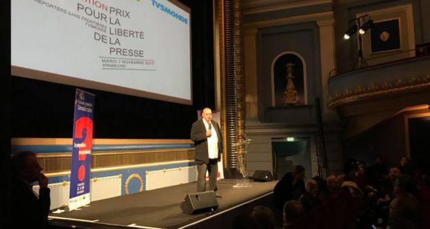 Elle compte parmi les manifestations phare du Forum mondial de la démocratie de Strasbourg. La cérémonie de remise des prix Reporters sans Frontières-TV5 monde s'est déroulée, pour la 5e année consécutive à Strasbourg.