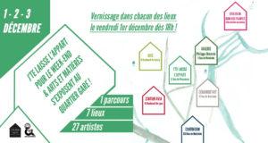 Dans le cadre du OFF du marché de Noël de Strasbourg, le collectif « J'te laisse l'appart' pour le week-end » et l'association Art & Matières organisent à nouveau un parcourt artistique dans le quartier gare, du 1 au 3 décembre 2017.