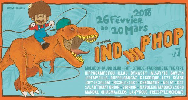 Ind'Hip'Hop, le festival de découverte Hip Hop, initié par l'association Pelpass, revient à Strasbourg pour sa 7e édition, dudu 26 février au 20 mars.