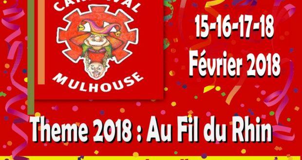 Pour sa 65e édition, le Carnaval de Mulhouse revient festoyer dans les rues, du 15 au 18 février sur le thème : « Au Fil du Rhin » !