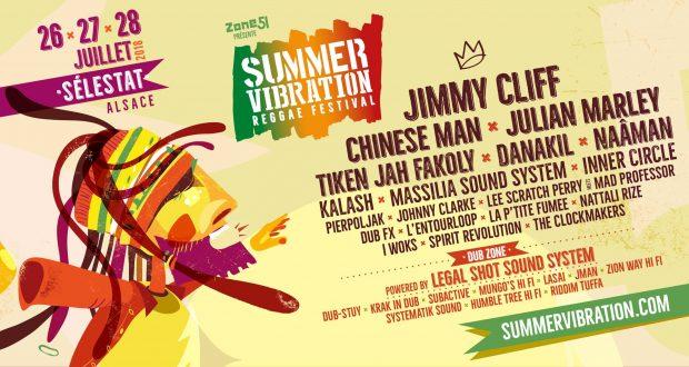 Après l'annonce des dates et des premiers noms, survenue en décembre 2017, l'organisation duFestival Reggae Summer Vibration vient de dévoiler le reste de sa programmation. Pour cette 5e édition, qui se tiendradu 16 au 18 juillet à Sélestat, le festival accueillera sur scènedes légendes du reggae comme Jimmy Cliff, Inner Circle ou encore Jonhhy Clarke...