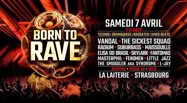 Après le succès de la soirée Born To Rave, sold out en 2017 avec plus de 1500 participants, Audiogenic réinvestit La Laiterie de Strasbourg le samedi 7 avril avec un événement festif et insolite, qui célébrera les attitudes décalées de la musique électronique sous ses multiples formes !