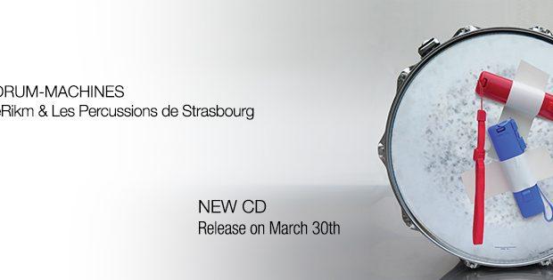 Les Percussions de Strasbourg viennent tout juste de présenter leur album « Drum-Machines » avec l'artiste eRikm. Présenté le 30 mars, Drum-Machine est le 2e enregistrement réalisé et produit sous le label Percussions de Strasbourg.