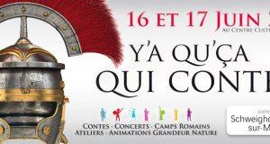 Durant une semaine, du 11 au 17 juin, Gaulois et Romains établiront leur campement à Schweighouse-sur-Moder, dans le cadre du festival «Y'a qu'ça qui conte !».