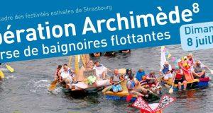 Le 8 juillet aura lieu la 8ème édition de l'Opération Archimède organisée par l'ARES. L'Opération Archimède est une course de baignoires flottantes où plusieurs équipages s'affrontent dans la joie et la bonne humeur... sur des embarcations toutes plus délirantes et improbables les unes que les autres.