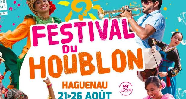 Du 21 au 26 août à Haguenau, le Festival du Houblon invite à la rencontre des cultures du monde et propose, pour sa 59ème édition une programmation festive, riche et variée au rythme des danses et des musiques des 5 continents.