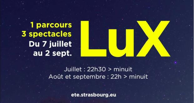 Le Grand Spectacle de l'été est un des temps forts de la programmation événementielle estivale strasbourgeoise. Cette année, une formule repensée, placée sous le fil conducteur des lumières offrira trois fenêtres, qui s'ouvrent sur des époques qui ont donné ses lettres de noblesses à Strasbourg.