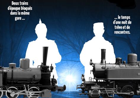 Deux trains ennemis sont bloqués dans la même gare, deux trains qui sont le trait d'union entre des adversaires qui ont su mettre la guerre de côté le temps d'une nuit. Une nuit de trêve et de rencontres, l'occasion de soigner des blessés ou encore d'écouter des notes de musique...