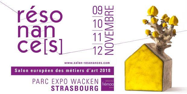 Le salon Résonance[s], organisé par la Frémaa (Fédération des métiers d'art d'Alsace), sera au rendez-vous pour sa 7e édition du 9 au 12 novembre au Parc des Expositions de Strasbourg.