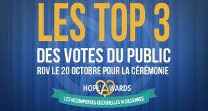 Ça y est ! Depuis le 1er octobre, minuit, les votes du public pour l'édition 2018 des Hopl'Awards sont clos. Et cette année, les internautes se sont mobilisés pour désigner leurs acteurs culturels préférés : plus de 25 500 votes ont été recensés sur le site des Hopl'Awards.