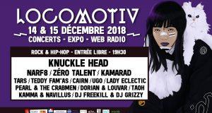 La Locomotiv' viendra une nouvelle fois clôturer le trimestre du Noumatrouff avec deux soirées de concerts gratuits, les 14 et 15 décembre, cette fois-ci placés sous l'égide du Hip-Hop et du Rock.