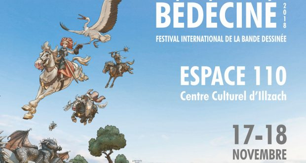 Les 17 et 18 novembre, rendez-vous à l'Espace 110 d'Illzach pour le 34e Festival International de la Bande-Dessinée, Bédéciné !