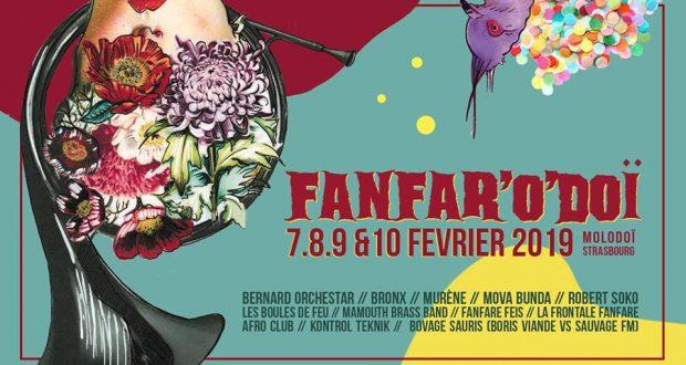 Rendez-vous incontournable du début d'année, le Fanfar'o'doï, le festival de fanfare intitié par l'association Pelpass, revient pour une 13e édition du 7 au 10 février au Molodoï à Strasbourg.