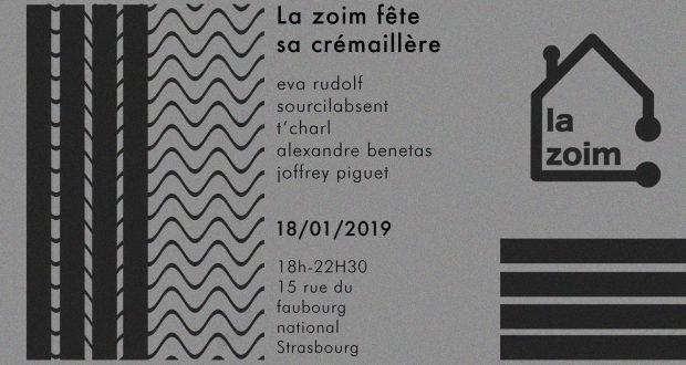 La Zoim, collectif qui œuvre pour la promotion de jeunes artistes et designers locaux en organisant des événements intimistes chez des particuliers, ouvre ses portes à Strasbourg et fête sa crémaillère à l'occasion de son premier afterwork le 18 janvier dès 18h, au 15 rue du Faubourg National.