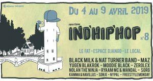 Festival à géométrie variable, Ind'Hip'Hop, met à l'honneur, depuis 8 ans, la scène hip-hop émergeante à Strasbourg. Entre rap US, rap français, beatmakers, mc's et live bands, le festival propose une vue d'ensemble du hip-hop indé en mêlant artistes internationaux, nationaux et locaux.