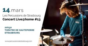 Rendez-vous musicaux désormais incontournables au Théâtre de Hautepierre, les Live@home des Percussions de Strasbourg sont à la fois des lieux de passage entre les publics et les artistes et de véritables laboratoires de recherche artistique.