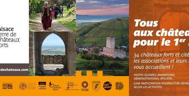 Avec sa centaine de sentinelles de pierre veillant sur la plaine, l'Alsace est l'une des régions d'Europe qui compte le plus de châteaux forts encore visibles aujourd'hui.