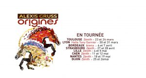 Origines, la 44e création de la compagnie d'Alexis Gruss, à découvrir les 27 et 28 avril au Zénith Europe de Strasbourg, célèbrera les « 250 ans de la piste » et rendra hommage aux créateurs du cirque équestre.