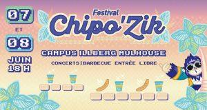 Chipo'Zik, le festival gratuit et ouvert à tous, organisé par des étudiants au coeur du campus Illberg à Mulhouse revient pour une 14e édition les 7 et 8 juin ! Pour la première fois, le festival se tiendra sur deux jours.