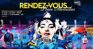 Les Rendez-vous Place Stanislas, c'est le spectacle son et lumière à ne pas manquer si vous passez dans les environs de Nancy pendant la période estivale.