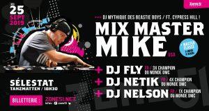 C'est l'événement musical de la rentrée pour tous les amateurs de platines, de scratch et de culture hip-hop : Zone51 vous donne rendez-vous avec Mix Master Mike le 25 septembre aux Tanzmatten !