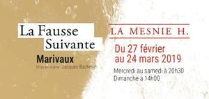 image - La Fausse Suivante de Marivaux - Cie La Mesnie H