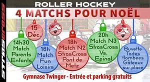 image - Roller Hockey - 4 Matchs pour Noël