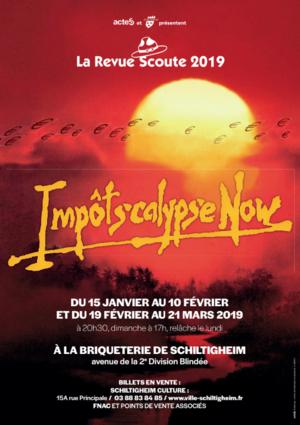 image - La revue scoute 2018 : Impôtscalypse Now