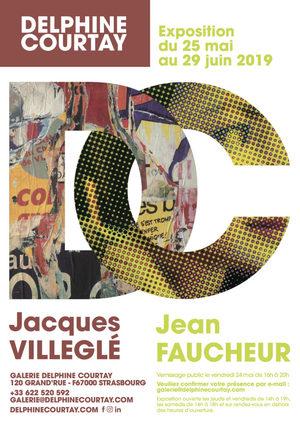 image - Vernissage : Jacques Villeglé et Jean Faucheur