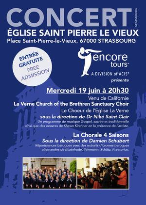image - Le Choeur de l'Eglise La Verne + La Chorale 4 Saisons