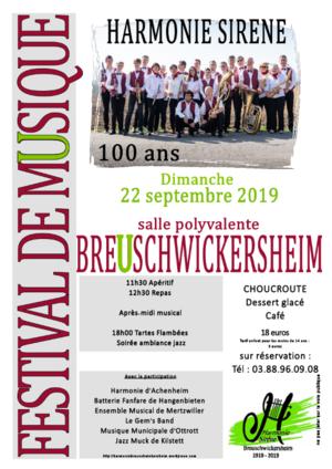 Festival Musical du centième anniversaire de l'Harmonie Sirène