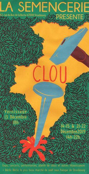 Vernissage : CLOU Expo d'hiver de la semencerie + the best of...