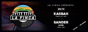 La Finca fête et présente Sander (live) + KasbaH