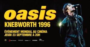 Concert Oasis Knebworth 1996 - au Cinéma Vox