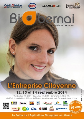 Le Salon de l'Agriculture Biologique en Alsace, BiObernai est de retour pour une 16e édition ! Rendez-vous du 13 au 15 septembre sur le parking des Remparts à Obernai.