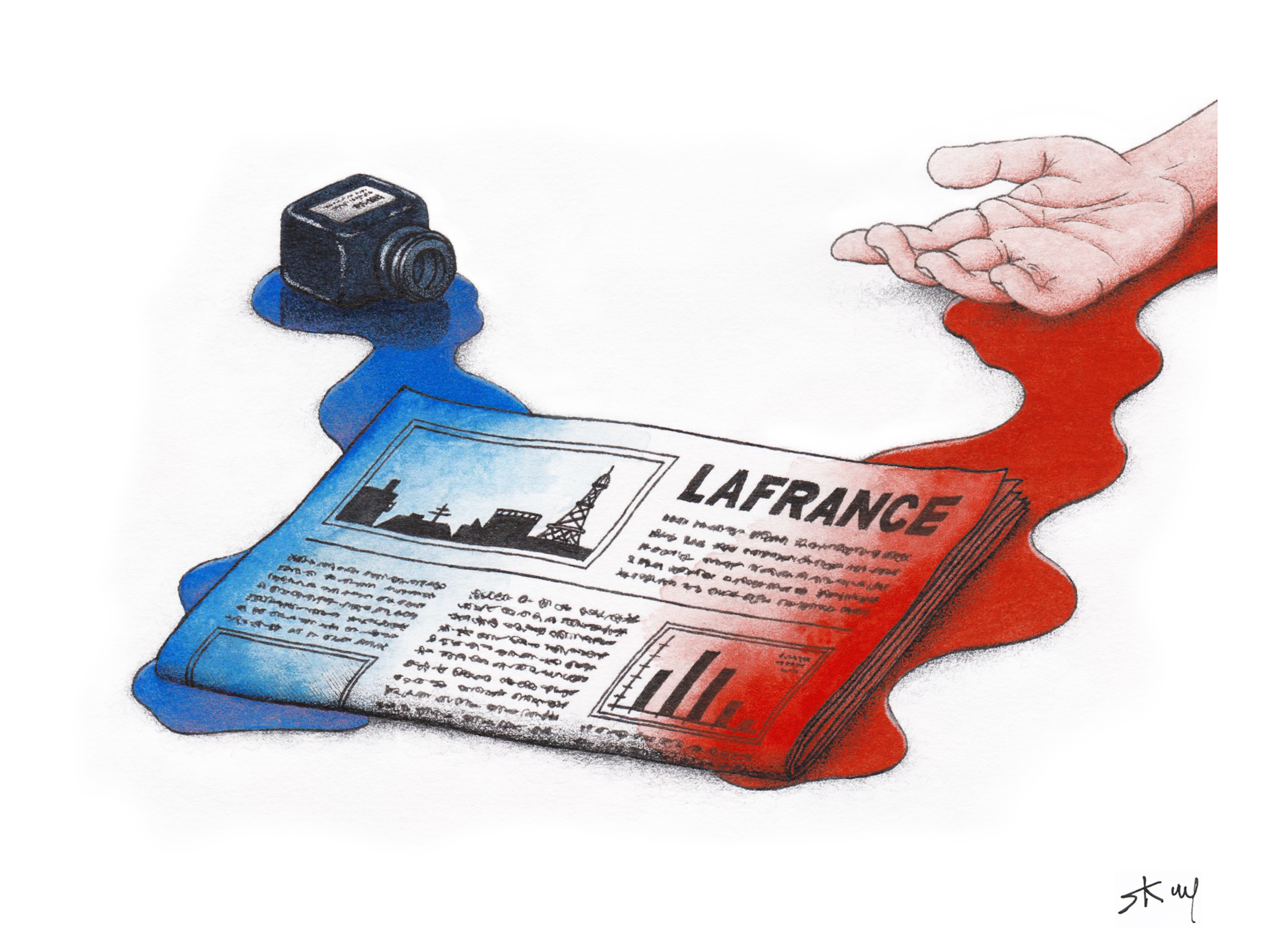 s.k.w.p@outlook.com dessin • #jesuischarlie n°2