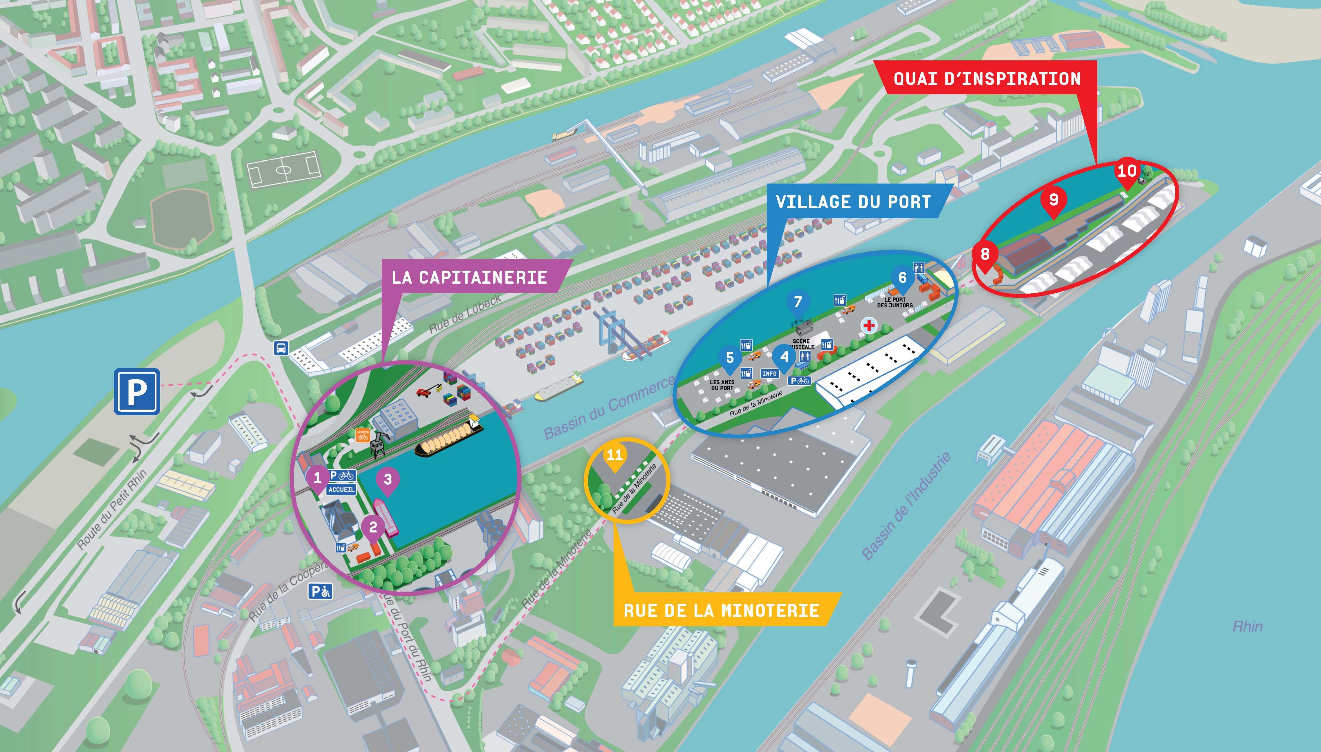 Plan du port pour le 19 juin 2016