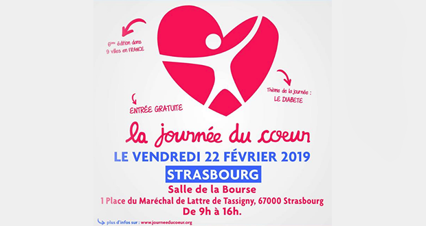 """Après le lancement de laJournée Nationale du Diabète, le 12 novembre dernier, Alliance du coeur revient à Strasbourg avec la Journée du coeur, qui s'articulera autour de la thématique """"Le diabète, un mal qui vous veut du mal !"""", le 22 février."""