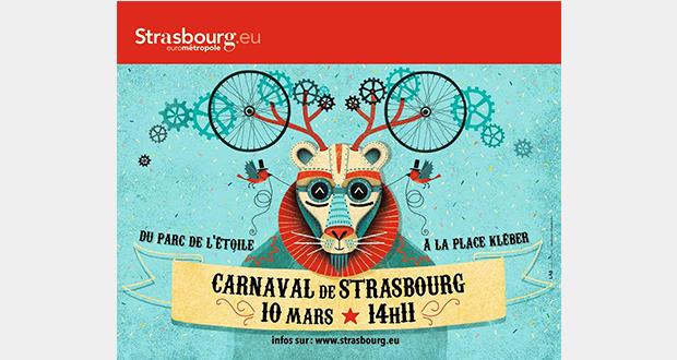 Le 10 mars, les « Monstres, Chimères et Carabistouilles » s'inviteront au Carnaval de Strasbourg. Dès 13h30, rue de la Brigade Alsace Lorraine, la Fanfare Feis lancera les festivités avant le grand départ du Carnaval présidé par Monsieur et Madame Loyal à dos de gyropodes.