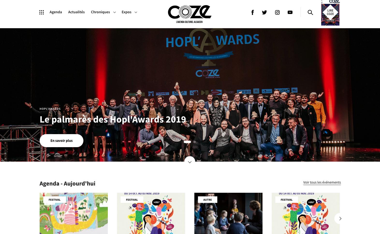 Nouveau site pour COZE Magazine